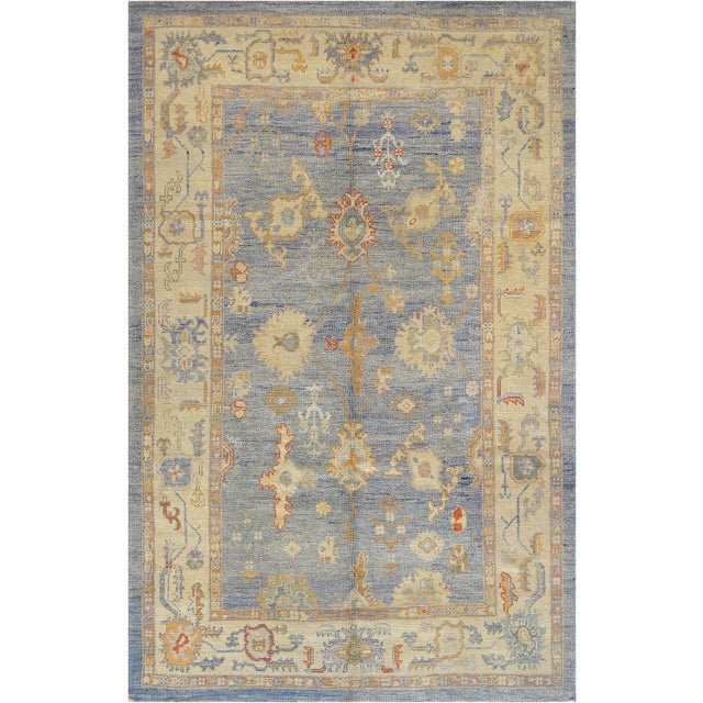 Mansour Turkish Oushak Wool Rug - 6′2″ × 9′6″ For Sale In Los Angeles - Image 6 of 6