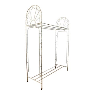 Antique American Hotel Coat & Luggage Rack For Sale