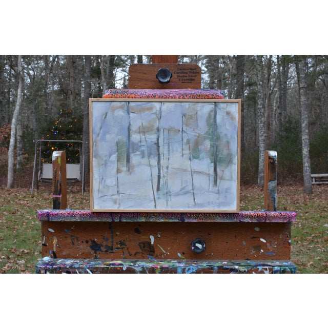 """Titled """"Winter Woods"""". The soft colors of winter in the New England woods on an overcast day. Painted in 2018, this..."""