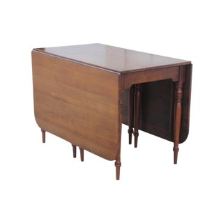 Neoclassical Style Gateleg Table For Sale