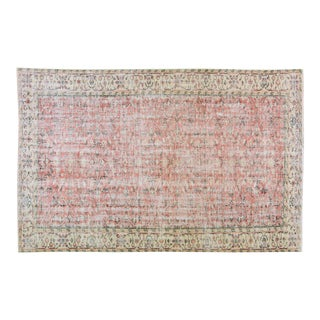 """Vintage Turkish Oushak Anatolian Hand Knotted Organic Wool Fine Weave Rug,6'1""""x9'2"""" For Sale"""