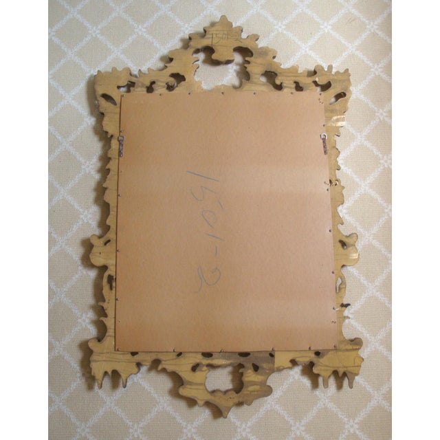 Large Gold Chippendale Rococo Mirror For Sale In Richmond - Image 6 of 7