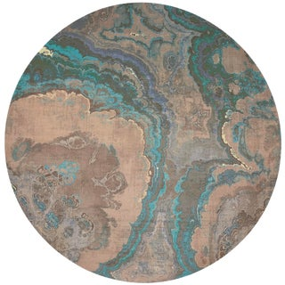 """Nicolette Mayer Agate Clay 16"""" Round Pebble Placemats, Set of 4 For Sale"""