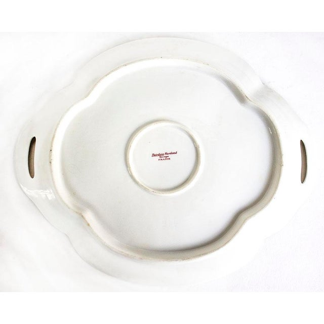 1960s 1960s Theodore Haviland Limoges France Porcelain Handled Tray For Sale - Image 5 of 6