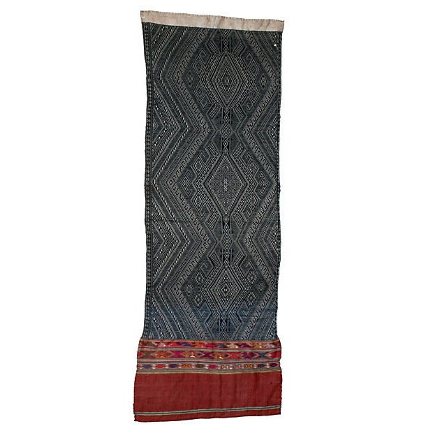 Indigo Dyed Tribal Laotian Textile - Image 1 of 3