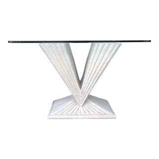 1970s Postmodern Geometric Side Table For Sale