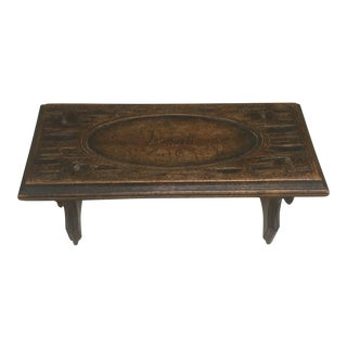 1920's Carved Miniature Folding Table