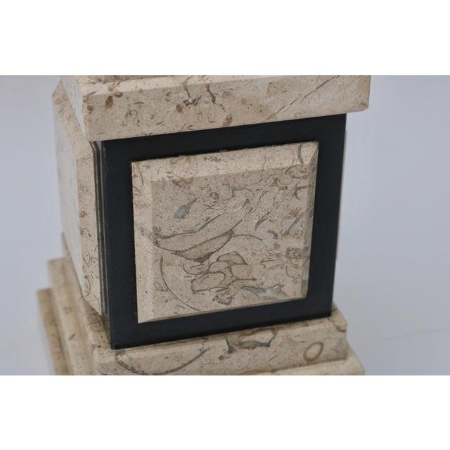 Tan & Black Marble Obelisk For Sale - Image 9 of 11