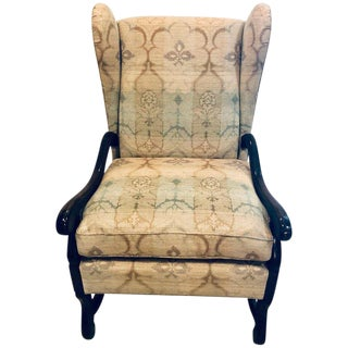 A. Schneller Sons Colonial Wingback Armchair For Sale