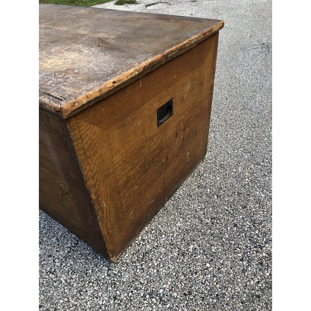 Late 19th/Early 20th Century Primitive Blanket Chest is rustic, solid and sturdy. Primitive antique condition with...