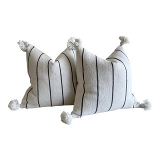Pair of Moroccan Pillows With Tassels For Sale
