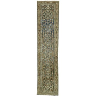 Antique Persian Malayer Style Runner -3′ × 13′5″ For Sale
