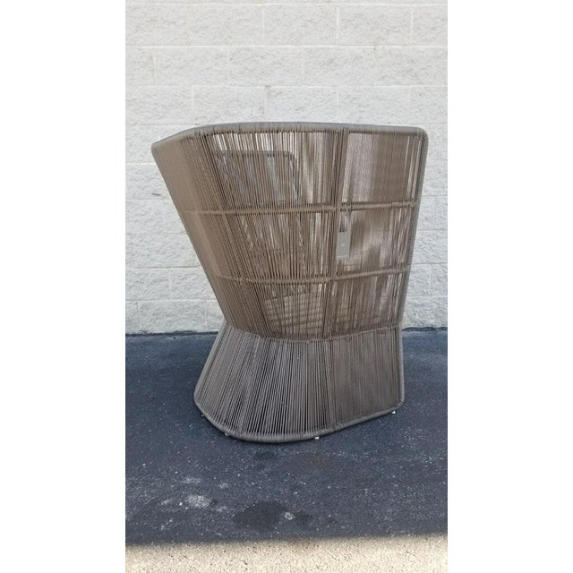 Contemporary Restoration Hardware Havana Fan Chair For Sale - Image 3 of 9