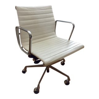 Herman Miller Eames Aluminum Group MCL Pearl Leather Management Chair