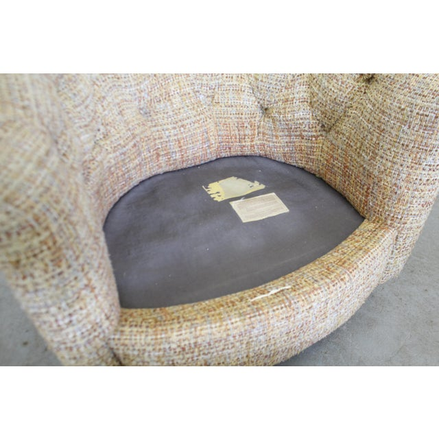 Mid-Century Modern Milo Baughman Thayer Coggin Swivel Rocker Lounge Chair For Sale - Image 12 of 13