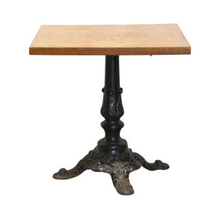 Traditional Square Bistro Table With Cast Iron Base For Sale