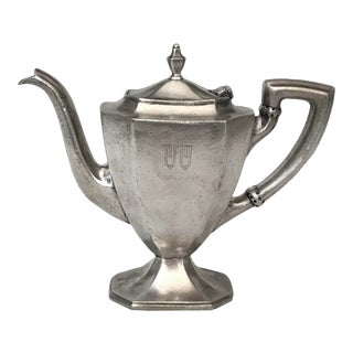 Vintage Reed & Barton Whitehall Club Hotel Silver Teapot For Sale