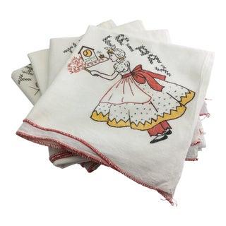 Vintage Flour Sack Towels - Set of 4