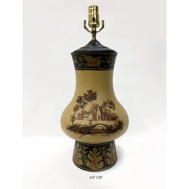 Yellow Orca Wooden Urn Lamp For Sale In New York - Image 6 of 7