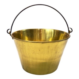 Vintage Randolph Clowes Co Large Brass Bucket For Sale