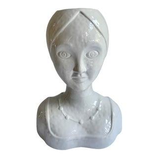 Ceramic Female Head Planter For Sale