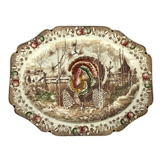 English Transfer-Ware Large Platter, His Majesty by Johnson Brothers For Sale