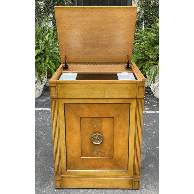 Metal Rare Grosfeld House Hollywood Regency Mid Century Modern Empire Cocktail Bar Cabinet For Sale - Image 7 of 7