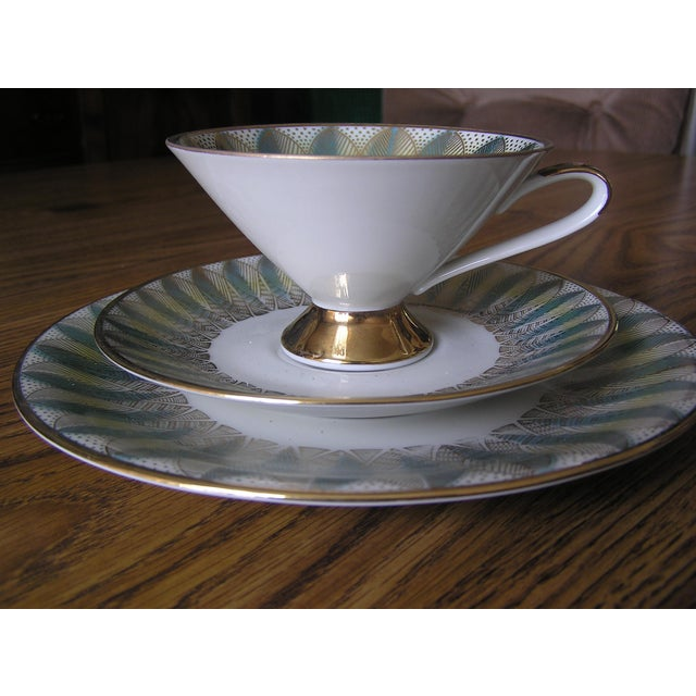 Mid-Century Coffee Cups & Plates - 12 Pieces For Sale - Image 5 of 12