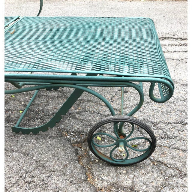 Woodard Tucson Green Wrought Iron Chaise Lounge Chair
