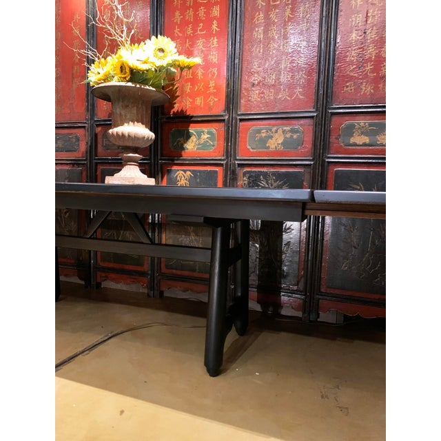 Mid-Century Modern Extension Dining Table Attributed to Guillerme Et Chambron For Sale - Image 9 of 12