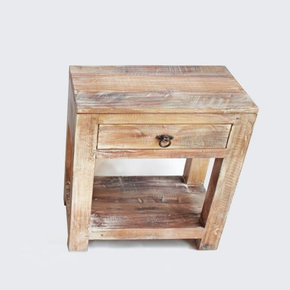 Reclaimed Wood Side Table / Night Stand - Image 2 of 2