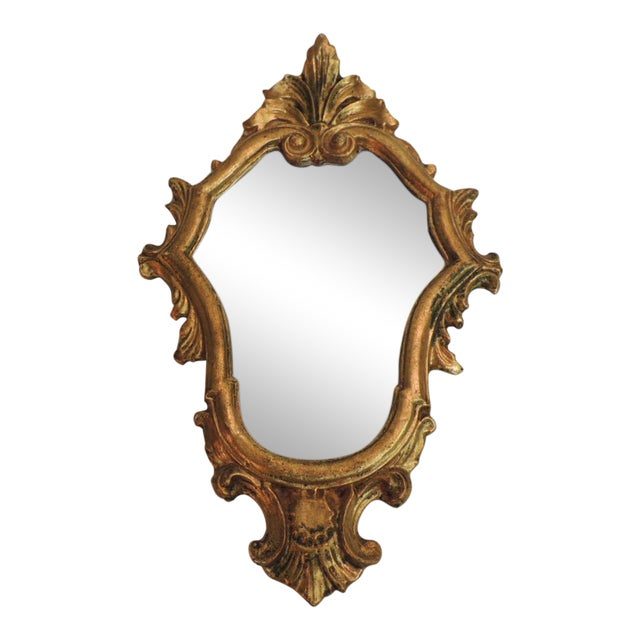 Vintage Florentine Gold Leaf Ornate Mirror - Image 1 of 4