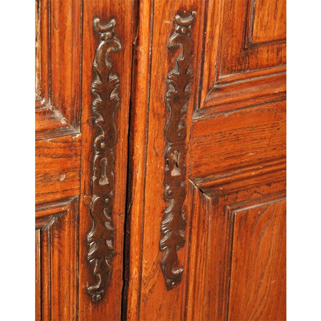Wood Antique Fruitwood Armoire For Sale - Image 7 of 7