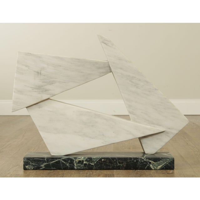 1980s Richard H. Bailey Geometric Marble Sculpture For Sale - Image 5 of 13