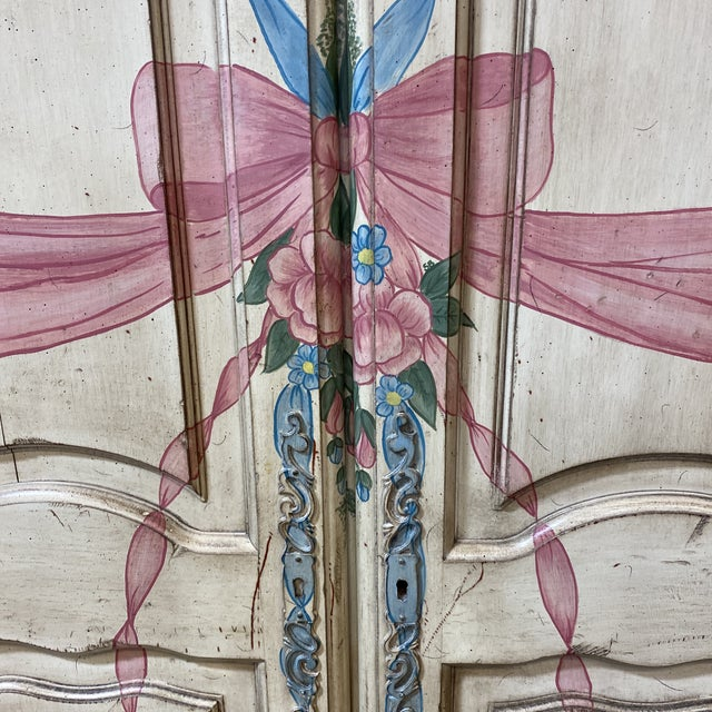 Custom Hand Made French Armoire For Sale - Image 9 of 13