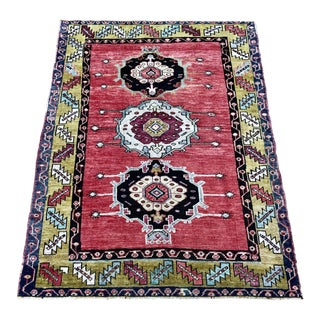 Late 20th Century Turkish Oushak Rug - 4′ × 5′4″ For Sale