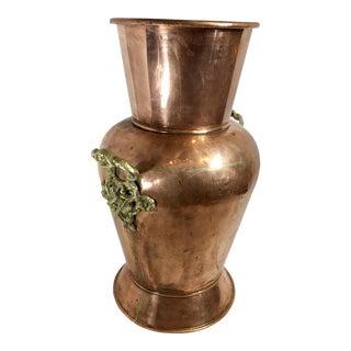 Vintage Traditional Copper Urn Vase For Sale