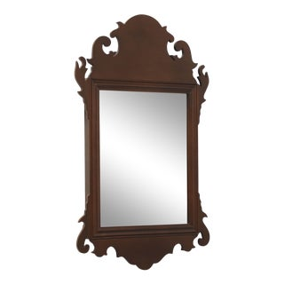 Virginia Metalcrafters Mahogany Colonial Williamsburg Petite Wall Mirror For Sale