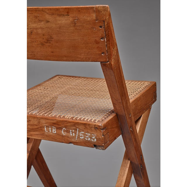 1950s Pierre Jeanneret pair of Chandigarh High Court library chairs, 1950s For Sale - Image 5 of 8
