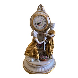 Antique Capodimonte Porcelain Clock For Sale