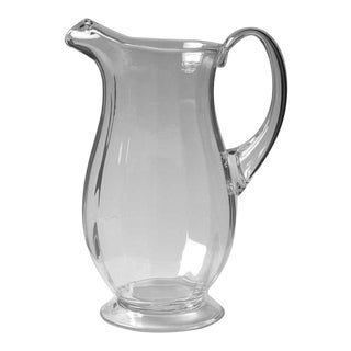 Orrefors Optica Symphony Blown Glass Crystal Pitcher For Sale