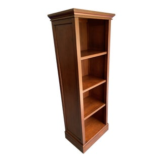 Pottery Barn Mahogany Tower Bookcase For Sale