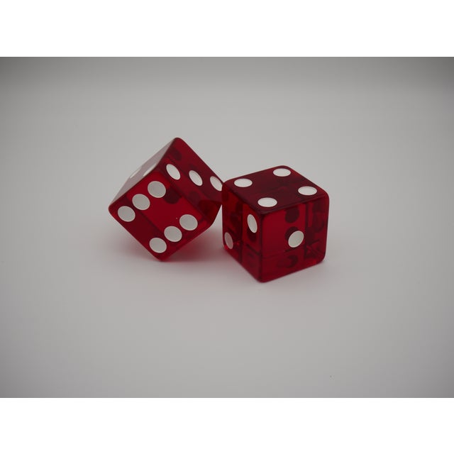 Mid-Century Modern 1960s Jumbo Red Casino Dice - a Pair For Sale - Image 3 of 6