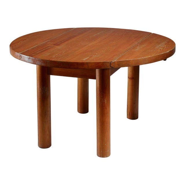 Charlotte Perriand Drop-Leaf Dining Table from the Doron Hotel, France For Sale
