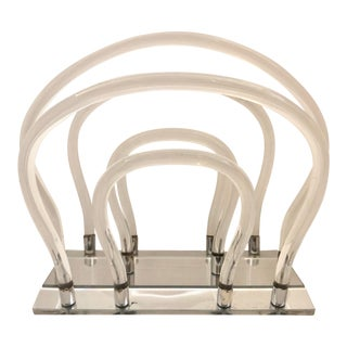 Dorothy Thorpe Lucite Magazine Rack For Sale