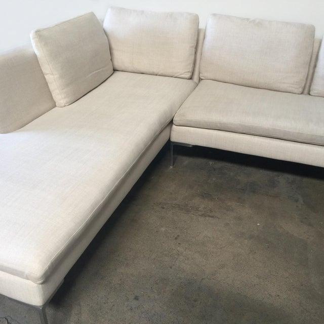 Antonio Citterio B&B Italia 'Charles' Sofa For Sale - Image 5 of 9
