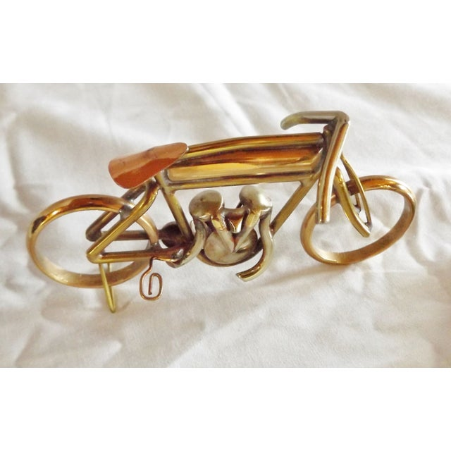 Brass Motorcycle Sculpture Cyclone Racer - Image 7 of 10