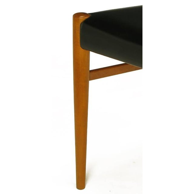 Six Teak Sculptural Back Dining Chairs, circa 1960s - Image 9 of 9