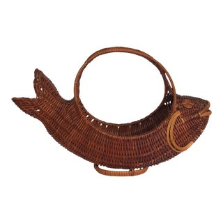 Mid 20th Century Vintage Fish Basket For Sale