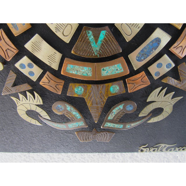 Mid Century Mexican Modern Wall Plaque For Sale In Phoenix - Image 6 of 9